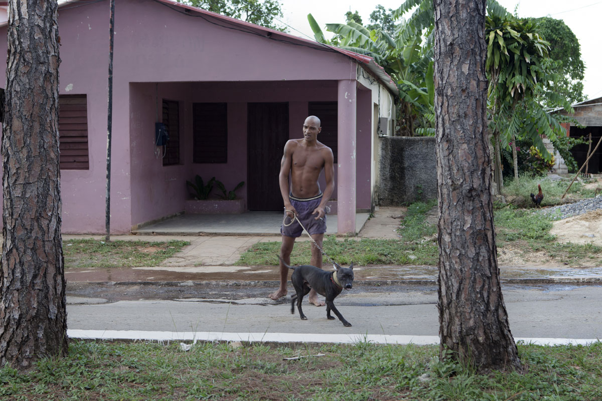 CUBA: Man with dog